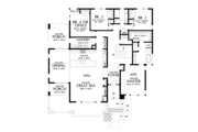 Contemporary Style House Plan - 4 Beds 2.5 Baths 2707 Sq/Ft Plan #48-979 Floor Plan - Main Floor