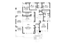 Contemporary Floor Plan - Main Floor Plan Plan #48-979