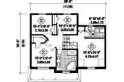 Country Style House Plan - 3 Beds 1 Baths 1700 Sq/Ft Plan #25-4570 Floor Plan - Upper Floor Plan