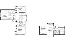 Craftsman Floor Plan - Upper Floor Plan Plan #928-304