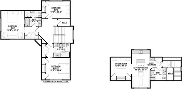 Craftsman Floor Plan - Upper Floor Plan Plan #928-304