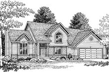 House Plan Design - Traditional Exterior - Front Elevation Plan #70-222