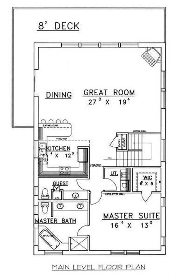 Traditional Floor Plan - Main Floor Plan Plan #117-516