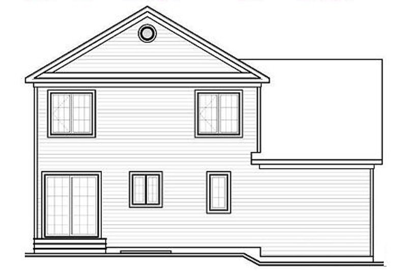 Traditional Exterior - Rear Elevation Plan #23-659 - Houseplans.com