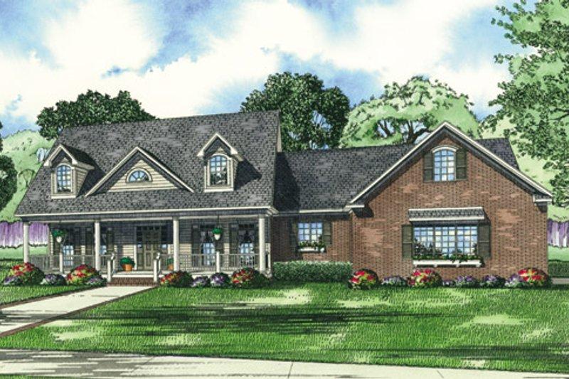Dream House Plan - Farmhouse Exterior - Front Elevation Plan #17-403