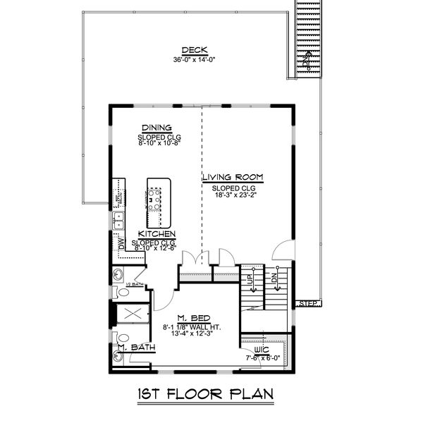 House Design - Beach Floor Plan - Main Floor Plan #1064-26