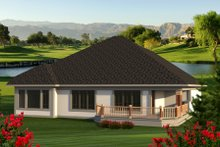 Dream House Plan - Ranch Exterior - Rear Elevation Plan #70-1188