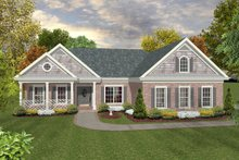 Dream House Plan - Traditional, Front Elevation
