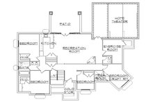 Traditional Floor Plan - Lower Floor Plan Plan #5-257