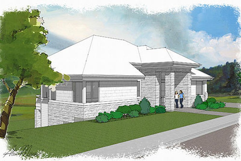 Exterior - Front Elevation Plan #48-480