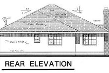 Home Plan - Traditional Exterior - Rear Elevation Plan #18-114