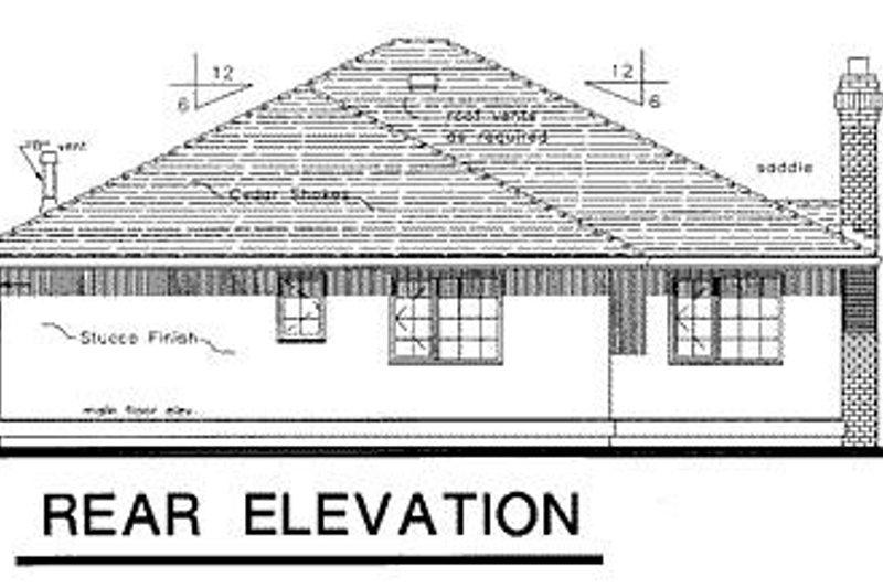 Traditional Exterior - Rear Elevation Plan #18-114 - Houseplans.com