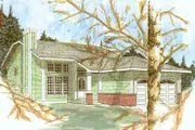 Traditional Style House Plan - 3 Beds 2 Baths 1302 Sq/Ft Plan #409-101 Exterior - Front Elevation