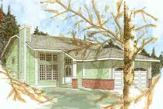 Traditional Exterior - Front Elevation Plan #409-101