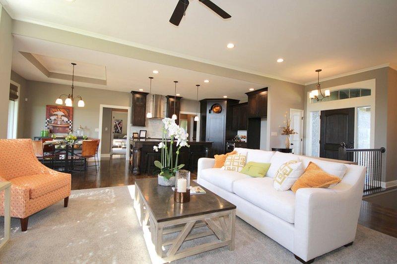 Mediterranean Interior - Family Room Plan #20-2174 - Houseplans.com