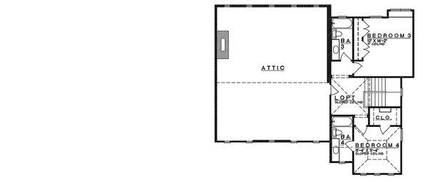 Craftsman Floor Plan - Upper Floor Plan Plan #935-11
