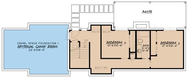 Farmhouse Floor Plan - Lower Floor Plan #923-63