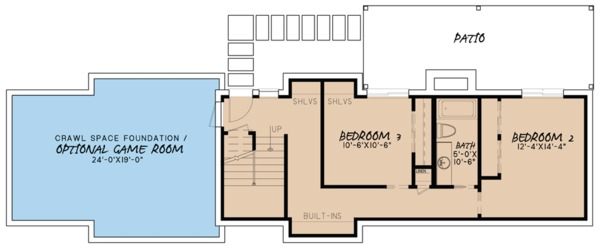 Farmhouse Floor Plan - Lower Floor Plan Plan #923-63