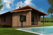 Modern Style House Plan - 3 Beds 1 Baths 1129 Sq/Ft Plan #538-13 Exterior - Rear Elevation