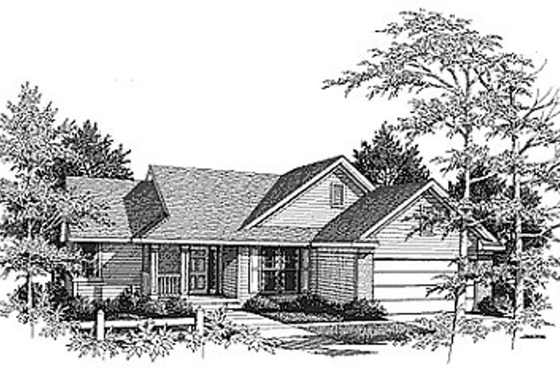 Traditional Exterior - Front Elevation Plan #70-160 - Houseplans.com