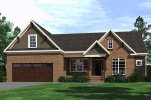 Ranch Exterior - Front Elevation Plan #1071-2