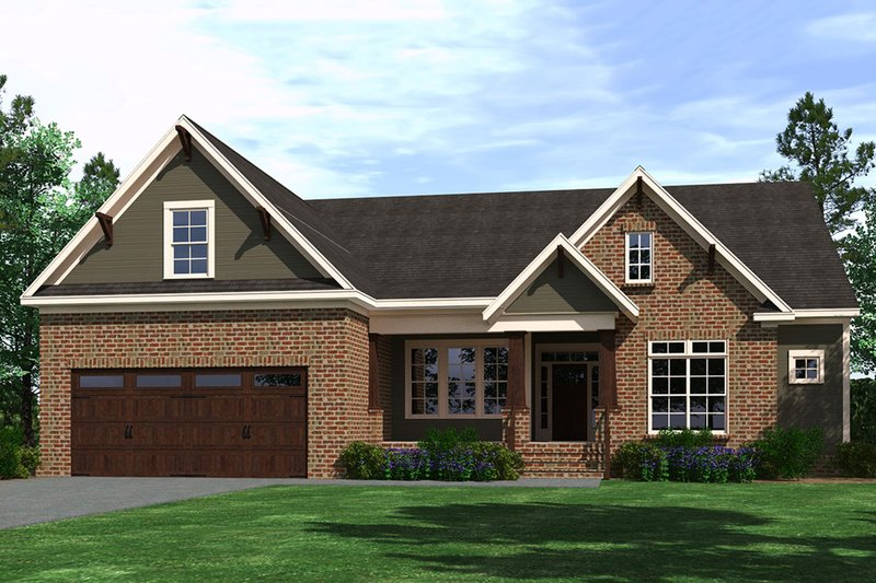 Ranch Style House Plan - 4 Beds 2 Baths 2330 Sq/Ft Plan #1071-2 Exterior - Front Elevation