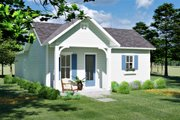 Cottage Style House Plan - 3 Beds 2 Baths 1320 Sq/Ft Plan #44-229 Exterior - Front Elevation