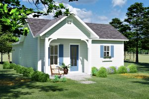 Architectural House Design - Cottage Exterior - Front Elevation Plan #44-229