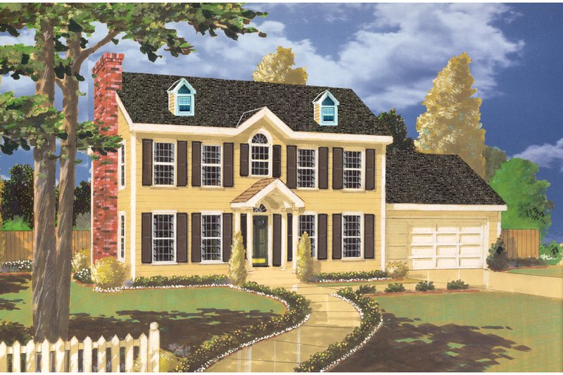 Colonial Exterior - Front Elevation Plan #3-326