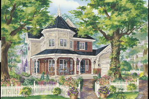 Victorian Exterior - Front Elevation Plan #25-4768