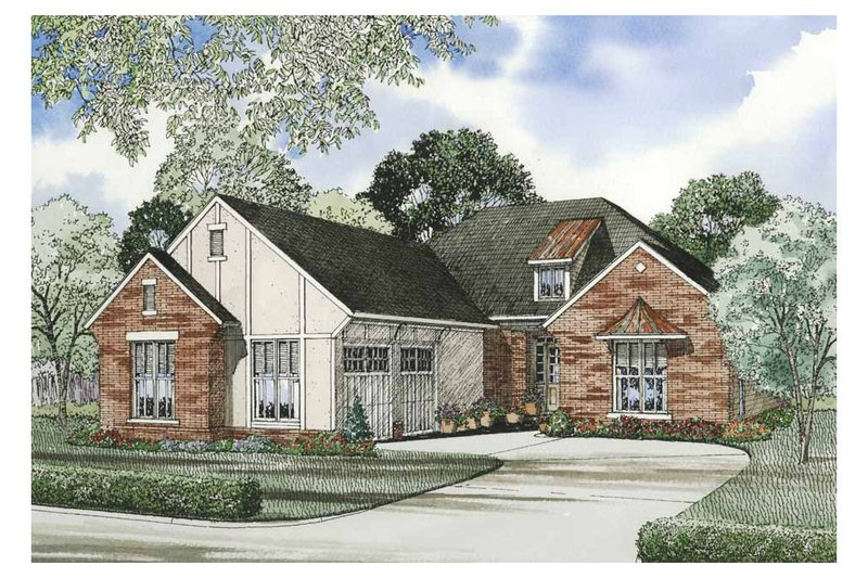 House Plan Design - European Exterior - Front Elevation Plan #17-1142