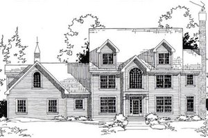 Colonial Exterior - Front Elevation Plan #312-834