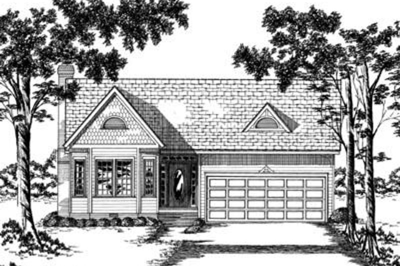Traditional Exterior - Front Elevation Plan #36-256