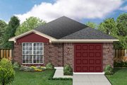 Mediterranean Style House Plan - 2 Beds 2 Baths 973 Sq/Ft Plan #84-284 Exterior - Front Elevation