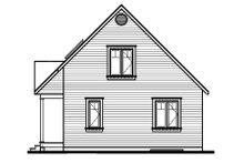 House Plan Design - Cottage Exterior - Rear Elevation Plan #23-488