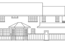 Tudor Exterior - Rear Elevation Plan #124-341