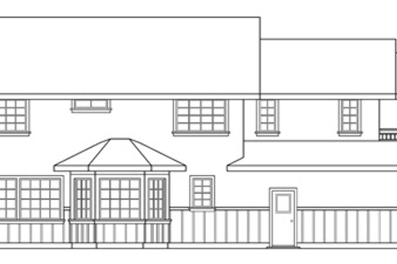 Tudor Exterior - Rear Elevation Plan #124-341 - Houseplans.com
