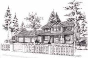 Traditional Style House Plan - 3 Beds 2.5 Baths 2457 Sq/Ft Plan #78-120 Exterior - Front Elevation