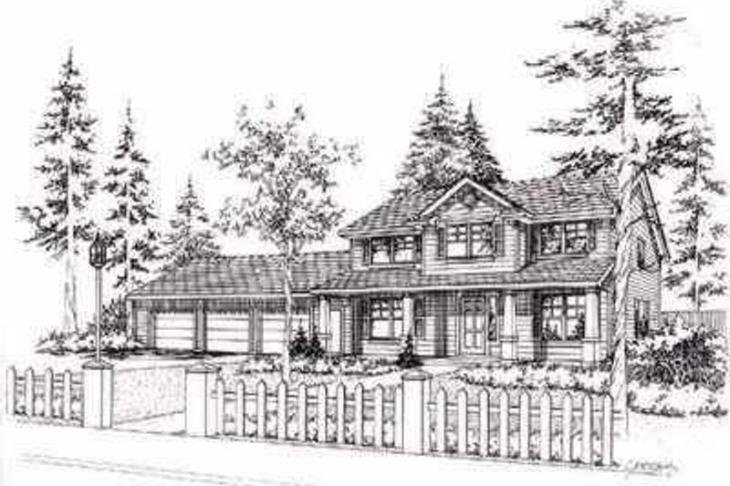 Traditional Style House Plan - 3 Beds 2.5 Baths 2457 Sq/Ft Plan #78-120