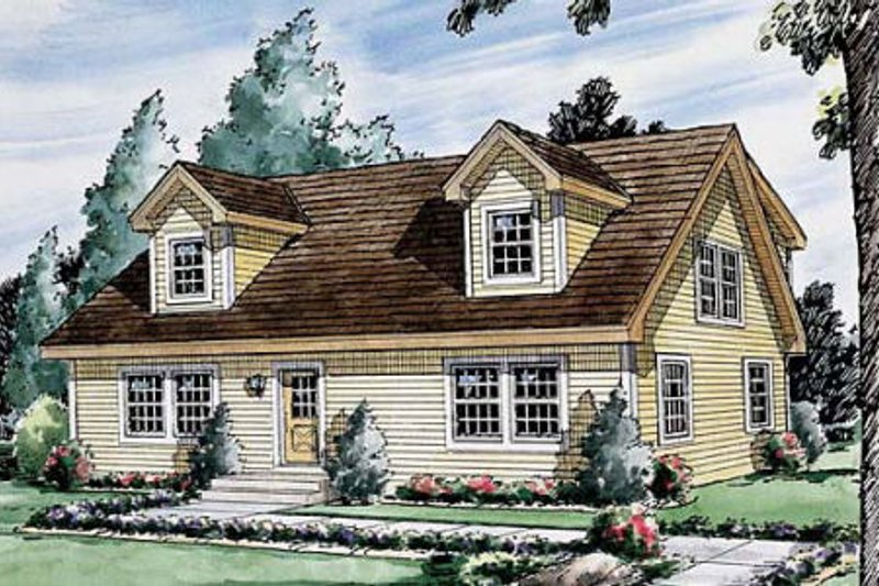 Traditional Style House Plan - 4 Beds 3 Baths 1757 Sq/Ft Plan #312-359 Exterior - Front Elevation