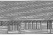 Traditional Exterior - Rear Elevation Plan #70-194