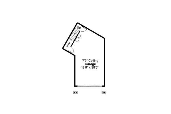 Craftsman Floor Plan - Lower Floor Plan Plan #124-1092