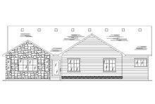House Plan Design - Ranch Exterior - Rear Elevation Plan #5-235