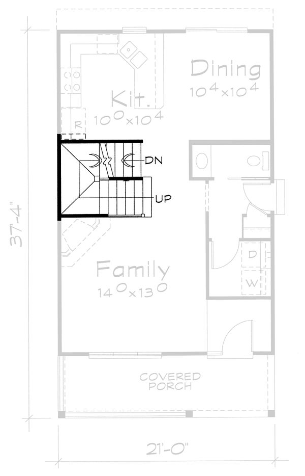 Traditional Floor Plan - Other Floor Plan Plan #20-2105