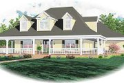 Country Style House Plan - 3 Beds 3.5 Baths 3257 Sq/Ft Plan #81-1456 Exterior - Front Elevation