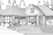 Traditional Style House Plan - 4 Beds 3 Baths 2294 Sq/Ft Plan #63-278 Exterior - Front Elevation