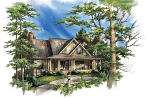 Country Exterior - Front Elevation Plan #71-110