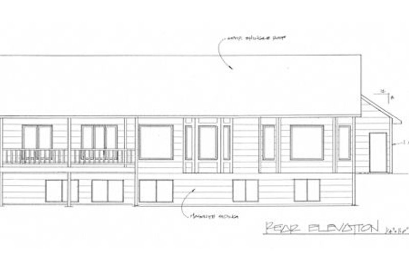 Traditional Exterior - Rear Elevation Plan #58-213 - Houseplans.com