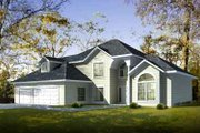 Traditional Style House Plan - 3 Beds 2.5 Baths 2527 Sq/Ft Plan #1-963 Exterior - Front Elevation