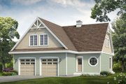 Country Style House Plan - 2 Beds 2 Baths 914 Sq/Ft Plan #47-1090 Exterior - Front Elevation